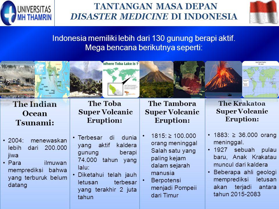 The Krakatoa Super Volcanic Eruption: 1883: ≥ 36.000 orang meninggal. 1927 sebuah pulau baru, Anak Krakatau muncul dari kaldera Beberapa ahli geologi