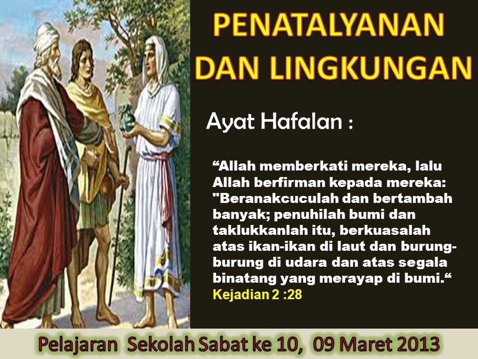 """Ayat Hafalan : """"Allah memberkati mereka, lalu Allah berfirman kepada mereka:"""