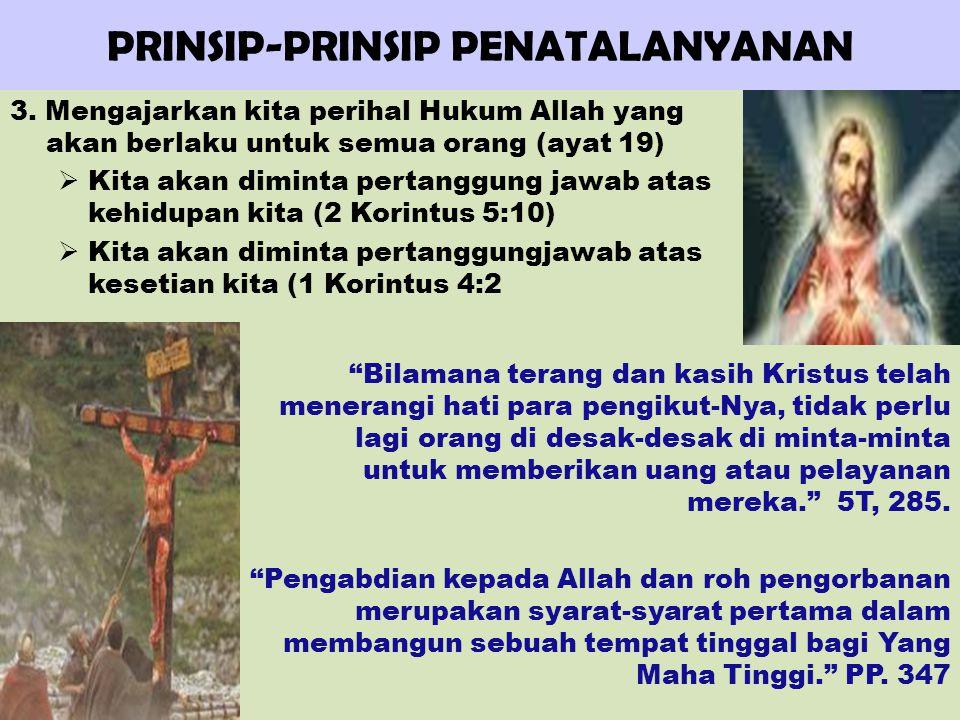 PRINSIP-PRINSIP PENATALANYANAN 3.