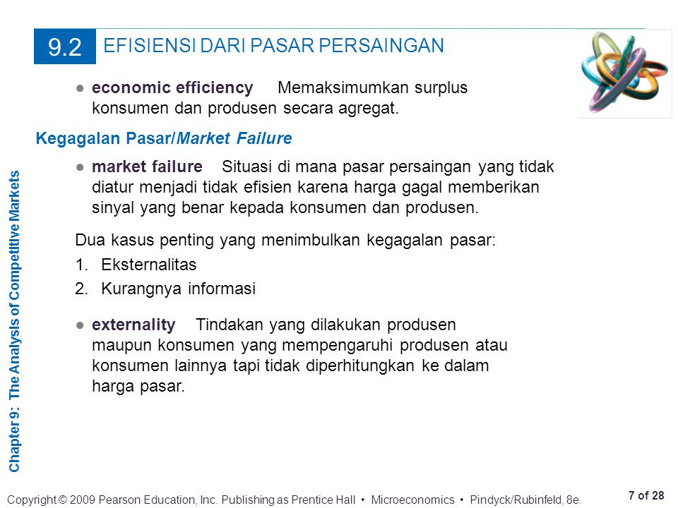 Chapter 9: The Analysis of Competitive Markets 8 of 28 Copyright © 2009 Pearson Education, Inc.