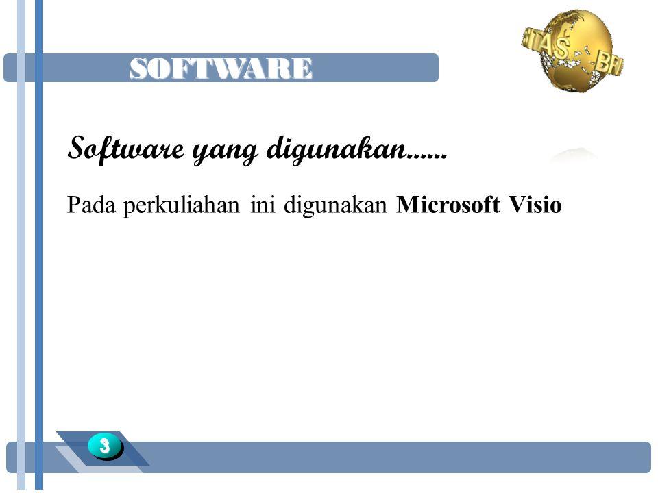 SOFTWARE 33 Software yang digunakan...... Pada perkuliahan ini digunakan Microsoft Visio