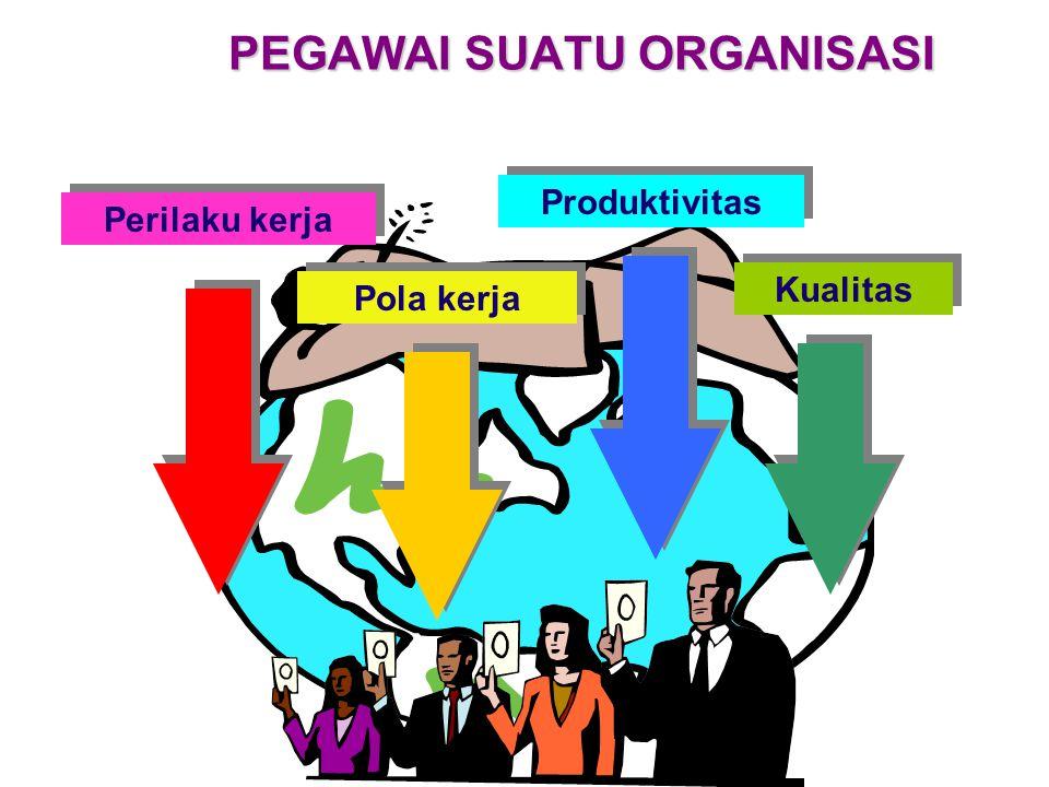 MSDM PEGAWAI SUATU ORGANISASI Perilaku kerja Produktivitas Pola kerja Kualitas