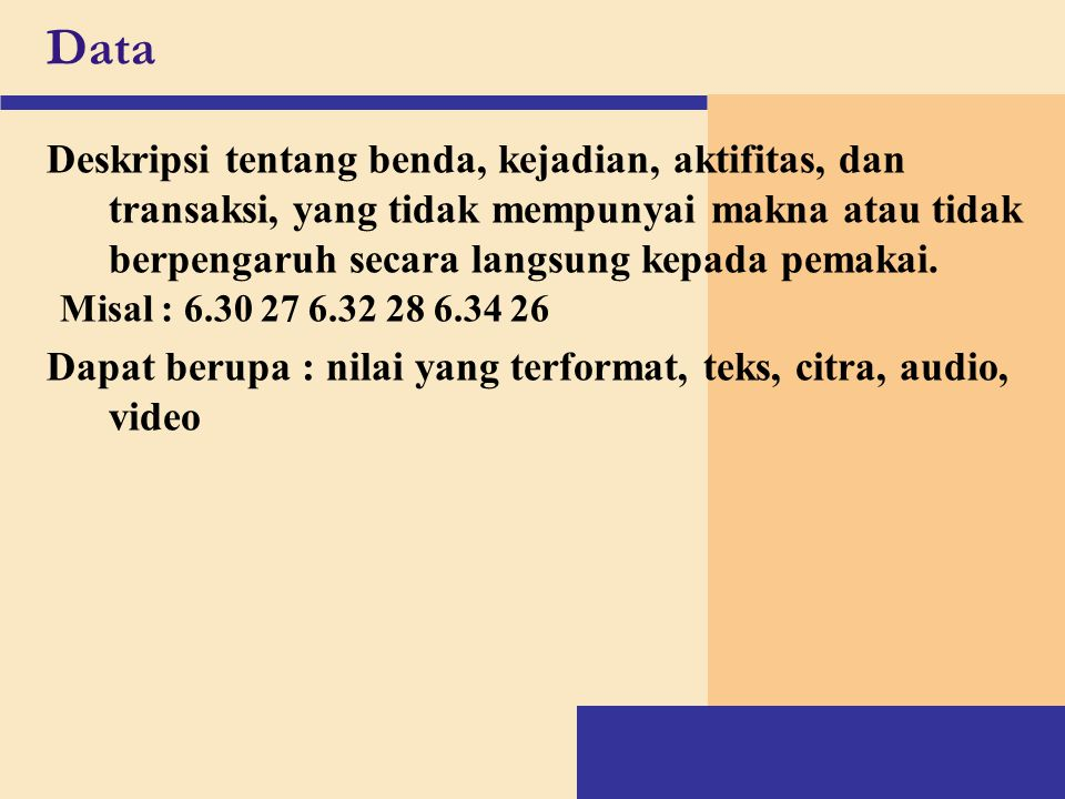 Information System last kuliah A system is a group of connected entities and activities which interact for a common purpose An information system is a set of processes, executed on raw data, to produce information that will be useful in decision making Database Informasi Pengambilan Keputusan Sistem Informasi