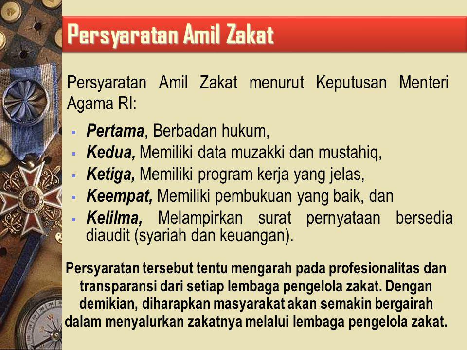 Jika zakat diserahkan langsung dari muzakki kepada mustahiq, meskipun secara hukum syari ah adalah syah, akan tetapi hikmah dan fungsi zakat, terutama yang berkaitan dengan kesejahteraan umat, akan sulit diwujudkan