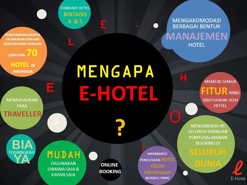 E-HOTEL ? MENGAPA MENGAKOMODASI BERBAGAI BENTUK MANAJEMEN HOTEL MEMBANTU PENGUSAHA HOTEL KELAS MENENGAH BAWAH ( UKM) MUDAH DIGUNAKAN DIMANA SAJA & KAP