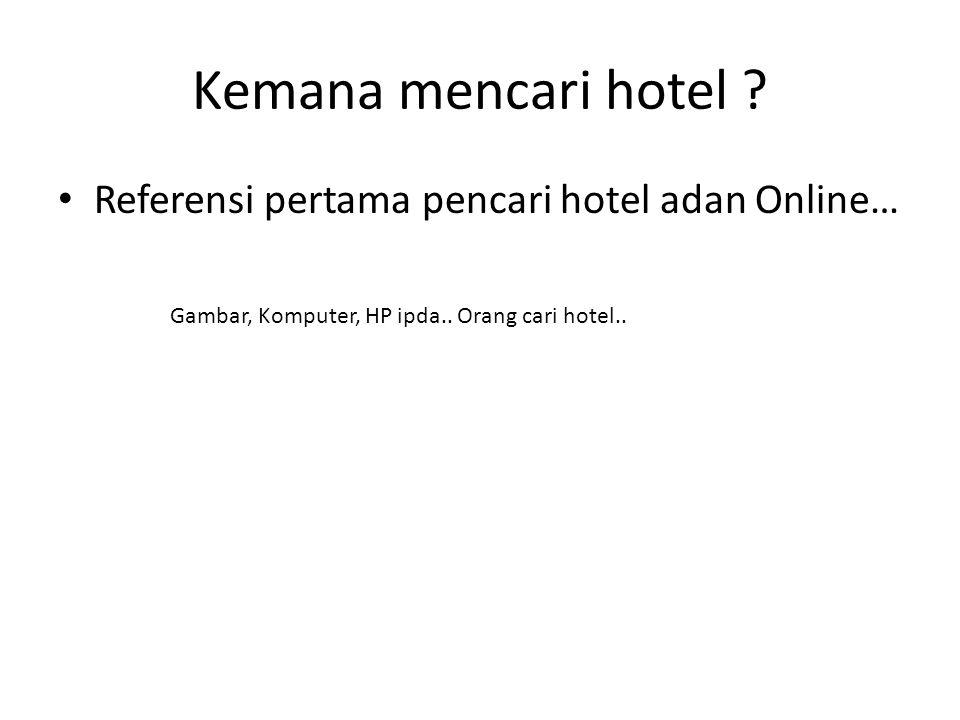 Kemana mencari hotel ? Referensi pertama pencari hotel adan Online… Gambar, Komputer, HP ipda.. Orang cari hotel..