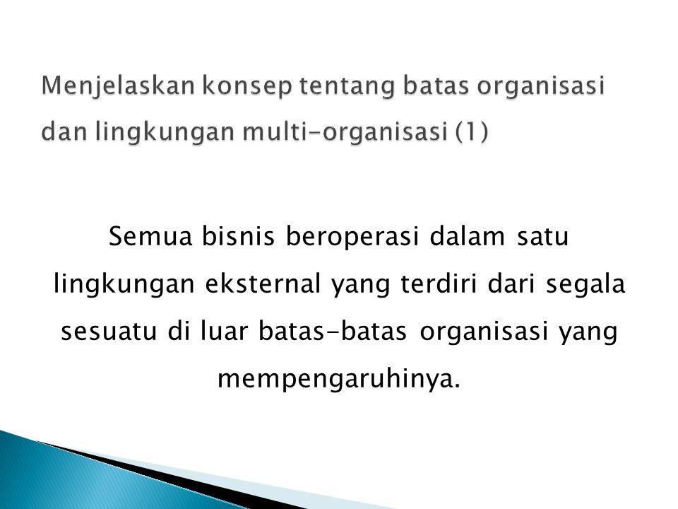 Batas Organisasi adalah batas yang memisahkan organisasi dari lingkungannya.