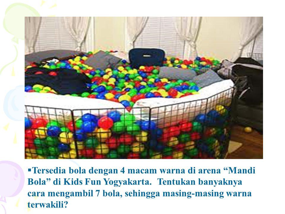  Tersedia bola dengan 4 macam warna di arena Mandi Bola di Kids Fun Yogyakarta.