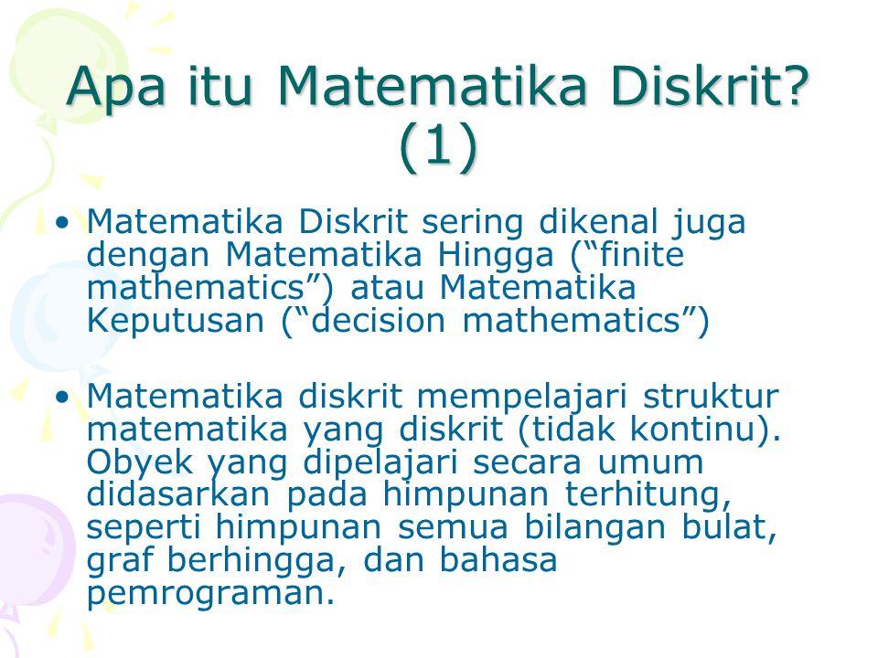 Apa itu Matematika Diskrit.