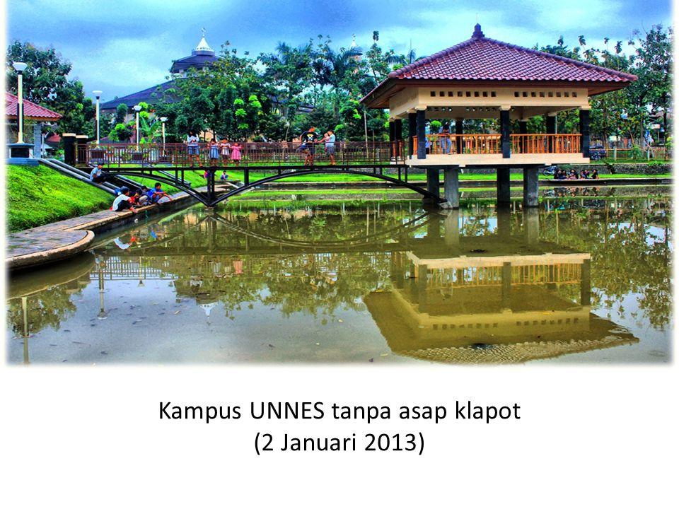 Kampus UNNES tanpa asap klapot (2 Januari 2013)