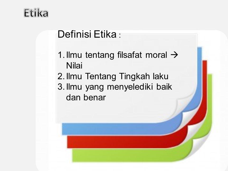 Perilaku Etika Meliputi: 1.Pertanggungjawaban (Responsibility) 2.Pengabdian (Dedication) 3.Kesetiaan (Loyalitas) 4.Kepekaan (Sensitivity) 5.Persamaan (Equalitiy) 6.Kepantasan (Equity) Perilaku Etika Meliputi: 1.Pertanggungjawaban (Responsibility) 2.Pengabdian (Dedication) 3.Kesetiaan (Loyalitas) 4.Kepekaan (Sensitivity) 5.Persamaan (Equalitiy) 6.Kepantasan (Equity)