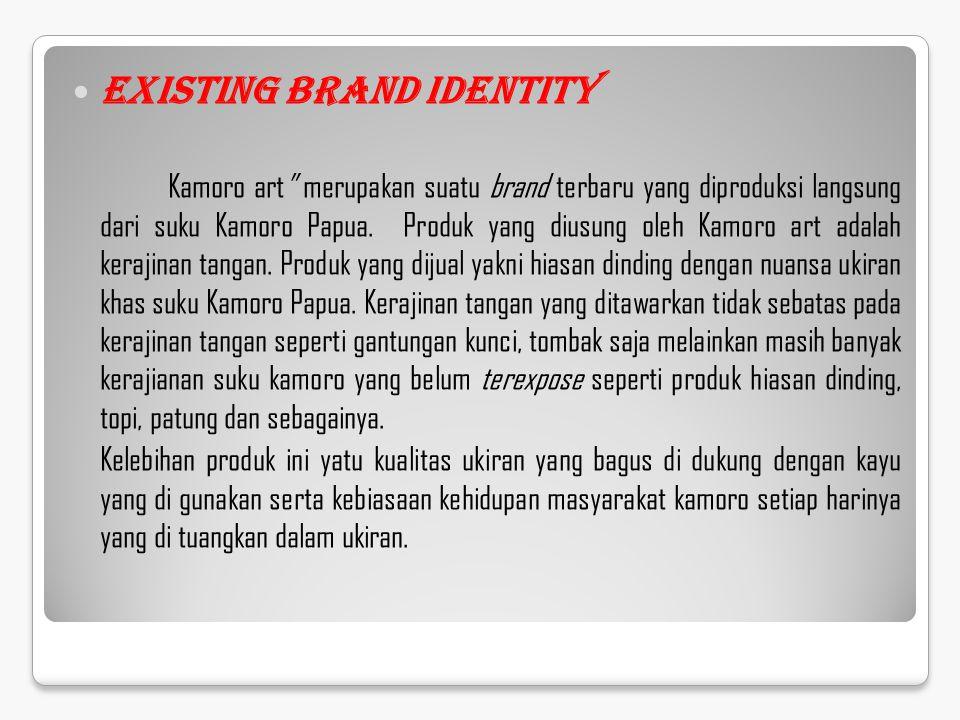 """Existing Brand Identity Kamoro art"""" merupakan suatu brand terbaru yang diproduksi langsung dari suku Kamoro Papua. Produk yang diusung oleh Kamoro art"""