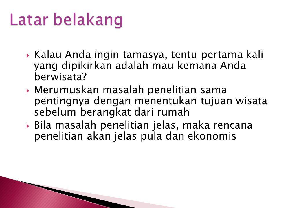 Masalah Penelitian Endy Paryanto Prawirohartono Sub Bagian Nutrisi dan Penyakit Metabolik Bagian Ilmu Kesehatan Anak Fakultas Kedokteran UGM RS Dr. Sa