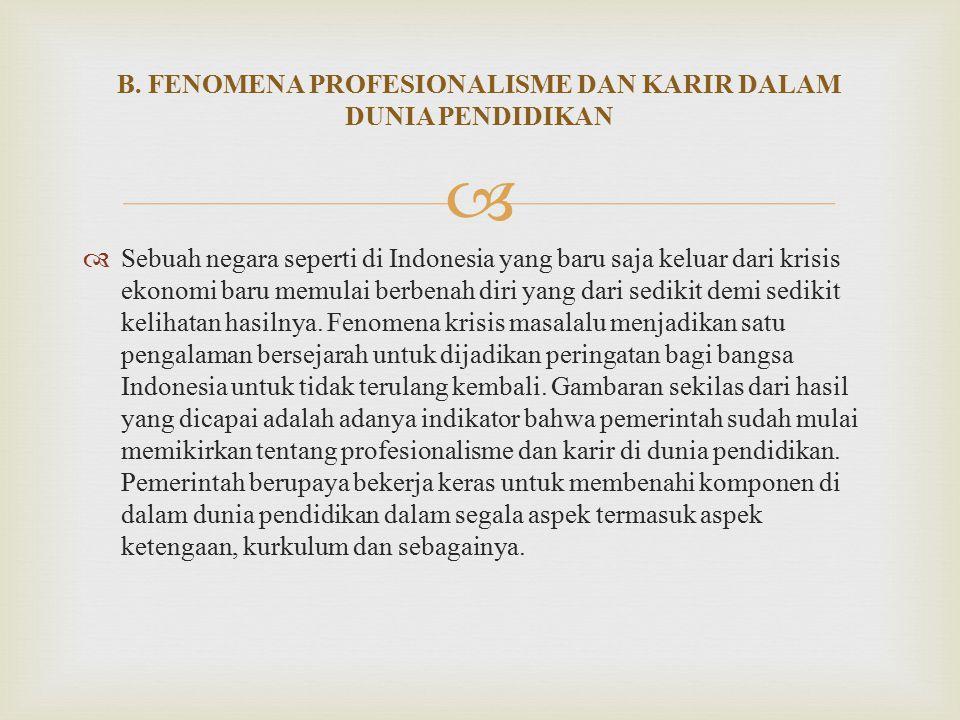   Sebuah negara seperti di Indonesia yang baru saja keluar dari krisis ekonomi baru memulai berbenah diri yang dari sedikit demi sedikit kelihatan hasilnya.