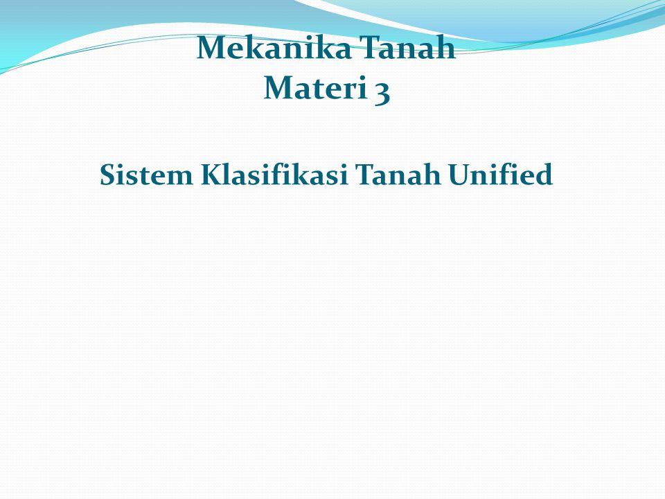 Mekanika Tanah Materi 3 Sistem Klasifikasi Tanah Unified
