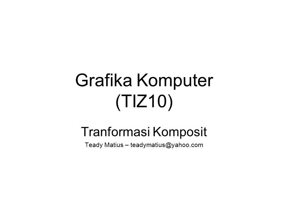 Grafika Komputer (TIZ10) Tranformasi Komposit Teady Matius – teadymatius@yahoo.com