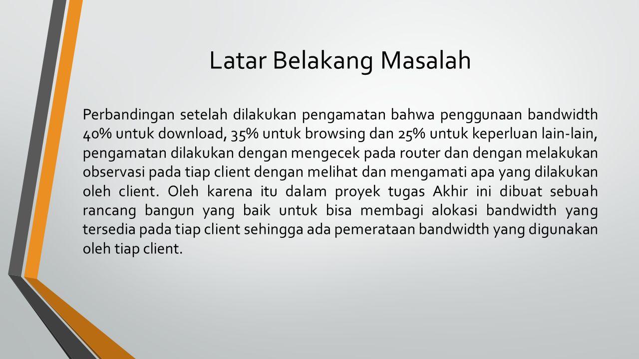 Tujuan Dapat menggunakan system yang telah di implementasikan untuk dipakai dalam jaringan di Universitas Kanjuruhan Malang Dapat menjadi acuan bagi adik-adik tingkat di Universitas Kanjuruhan Malang khususnya Fakultas Teknologi Informasi.