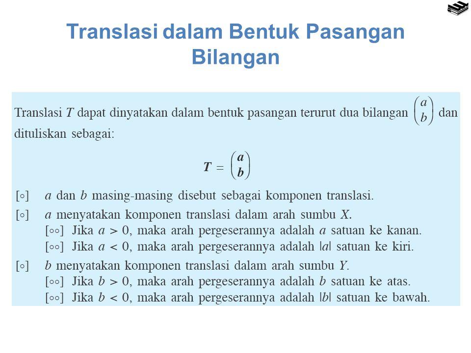 Translasi dalam Bentuk Pasangan Bilangan