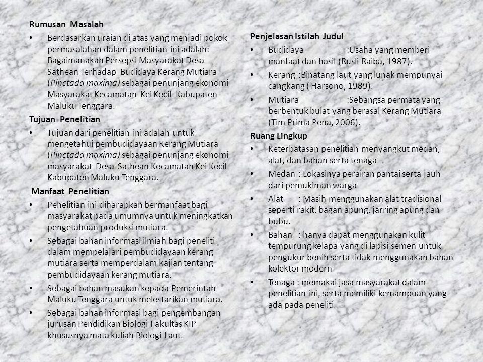 BAB II TINJAUAN PUSTAKA Klasifikasi Kerang Mutiara Taksonomi dari kerang mutiara dapat di klasifikasi sebagai berikut : Kingdom: Animalia Fillum: Mollusca Klas: Bivalvia Ordo : Any Samyaria Family: Pteriidae Genus : Pinctada Species: Pinctada maxima (Arif Sujoko, 2010).