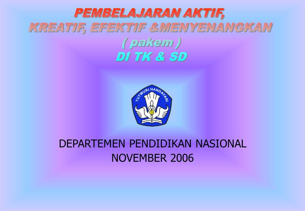 DEPARTEMEN PENDIDIKAN NASIONAL NOVEMBER 2006