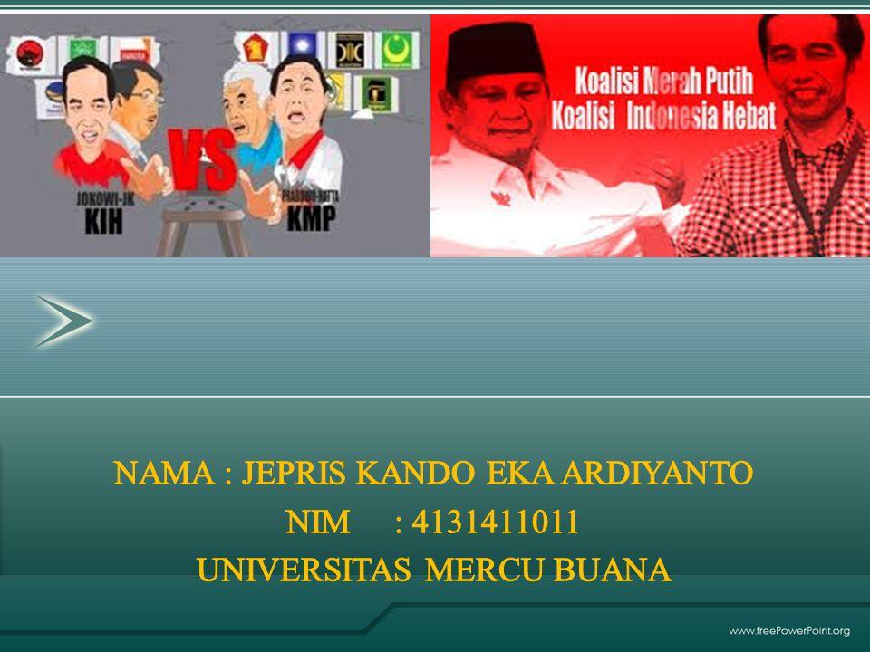 LATAR BELAKANG PROFIL KOALISI MERAH PUTIH PROFIL KOALISI INDONESIA HEBAT PETA POLITIK FENOMENA YANG TERJADI PERMASALAHAN-PERMASALAHAN SOLUSI YANG TERBAIK KESIMPULAN