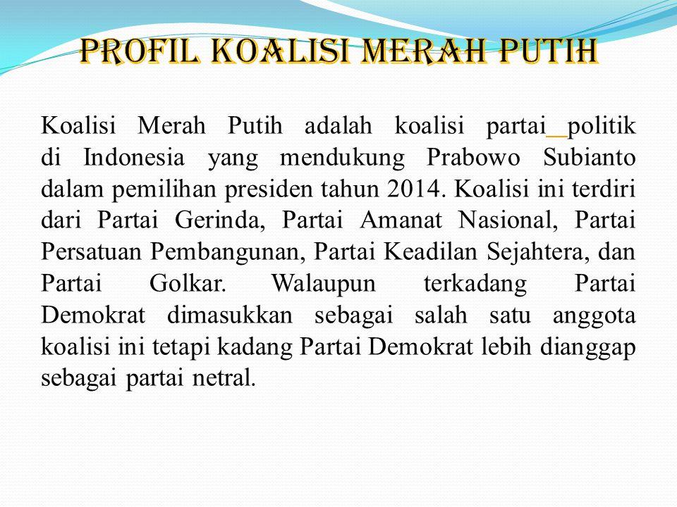 Wakil Ketua Umum Partai Gerindra, Fadli Zon, menyatakan Koalisi Merah Putih Permanen terbentuk berlandaskan kepercayaan, tanpa sanksi-sanksi mengikat.