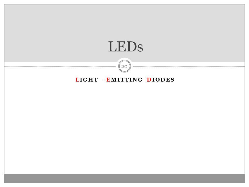LIGHT –EMITTING DIODES LEDs 20
