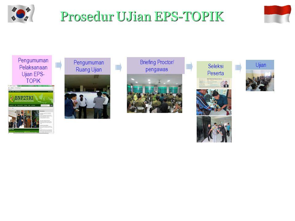 Prosedur Pendaftaran EPS-TOPIK Pengumuman Pendaftaran EPS-TOPIK Seleksi Dokumen Persyaratan Membayar Biayar EPS- TOPIK dan melengkapi persyaratan Peng