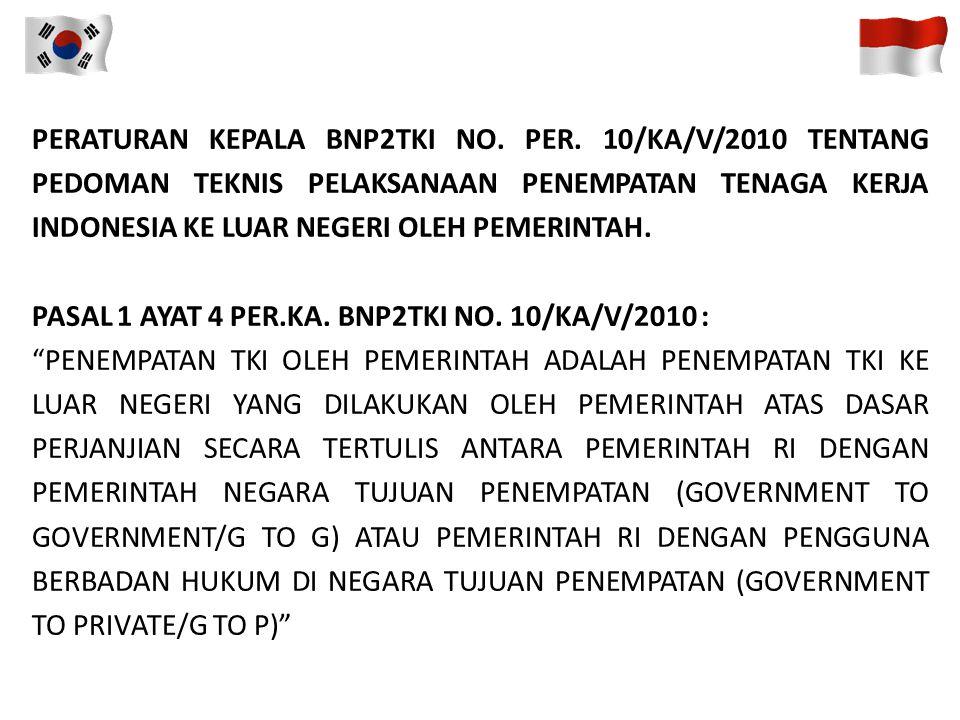 PASAL 10 UNDANG-UNDANG N0. 39/2004 : PELAKSANA PENEMPATAN TKI DI LUAR NEGERI TERDIRI DARI : A.PEMERINTAH; B.PELAKSANA PENEMPATAN TKI SWASTA. PASAL 11