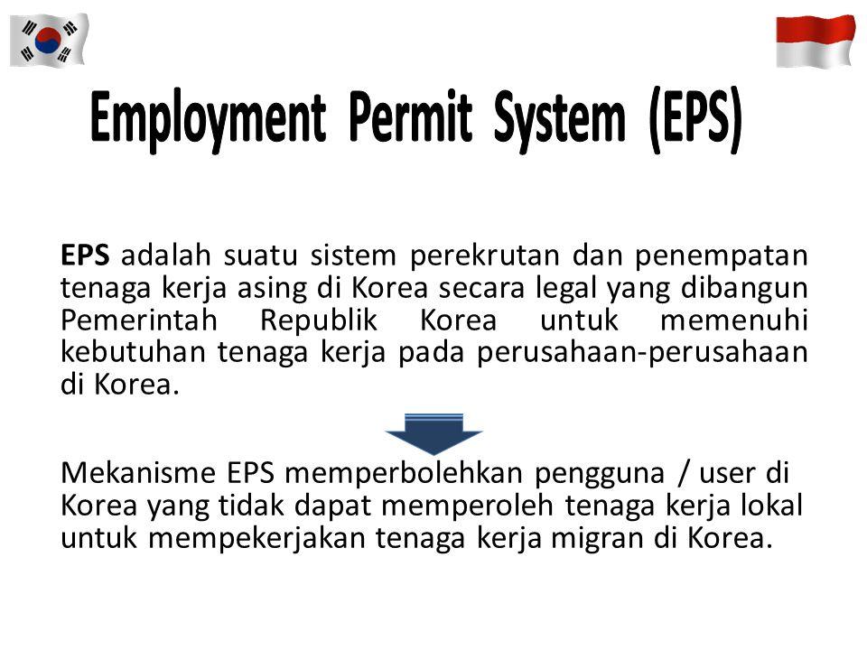 PROSEDUR PENEMPATAN TKI KOREA PENDAFTARAN TES EPS-TOPIK 1.Mengambil Formulir Lamaran dan Sertifikat EPS-TOPIK di BP3TKI 2.Mengisi Form Lamaran 3.Melen