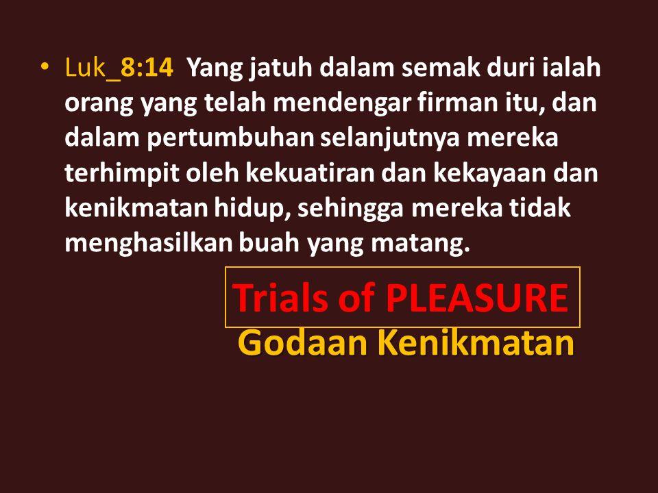 Luk_22:28 Kamulah yang tetap tinggal bersama-sama dengan Aku dalam segala pencobaan yang Aku alami.