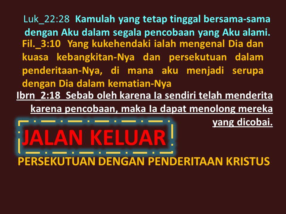 Mat_6:13 dan janganlah membawa kami ke dalam pencobaan, tetapi lepaskanlah kami dari pada yang jahat.