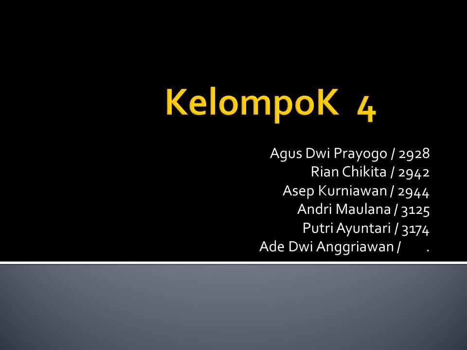 Agus Dwi Prayogo / 2928 Rian Chikita / 2942 Asep Kurniawan / 2944 Andri Maulana / 3125 Putri Ayuntari / 3174 Ade Dwi Anggriawan /.