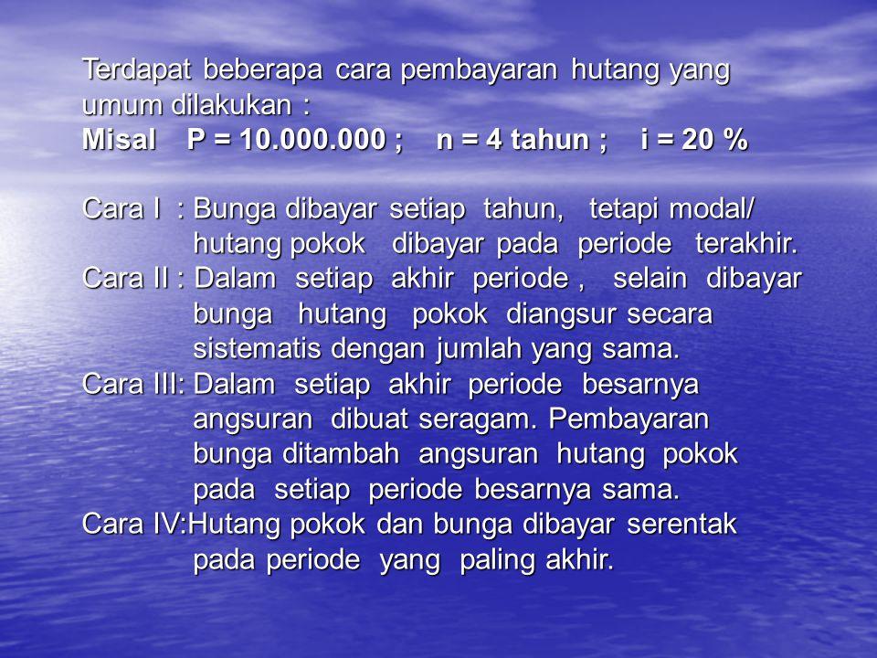 B.Deret Seragam (Uniform Series ) 1. Sinking Factor (Mencari A bila diketahui F) 1.