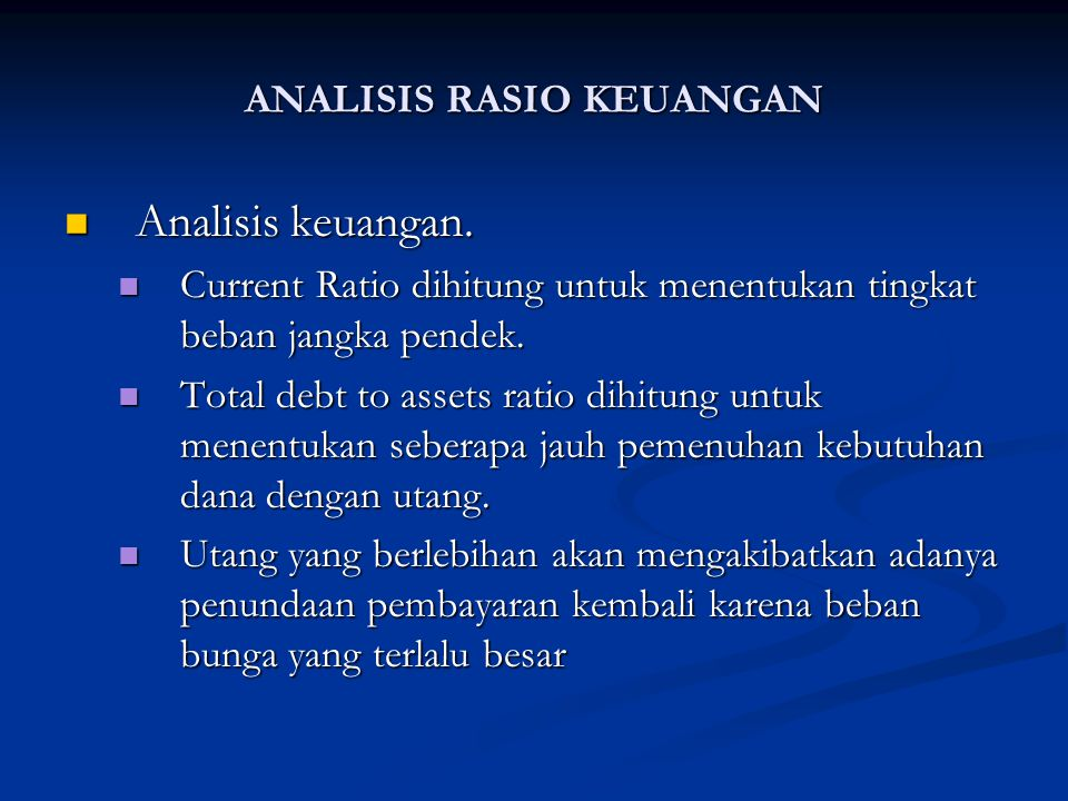 Analisis keuangan.Analisis keuangan.