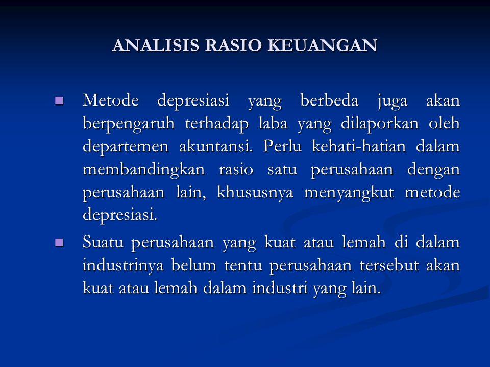 Metode depresiasi yang berbeda juga akan berpengaruh terhadap laba yang dilaporkan oleh departemen akuntansi.