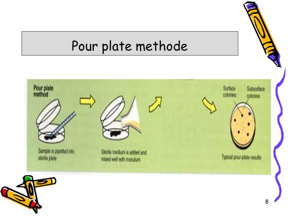 Pour plate methode 8