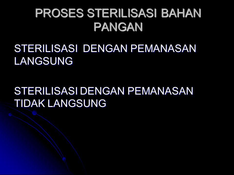 PROSES STERILISASI BAHAN PANGAN STERILISASI DENGAN PEMANASAN LANGSUNG STERILISASI DENGAN PEMANASAN TIDAK LANGSUNG