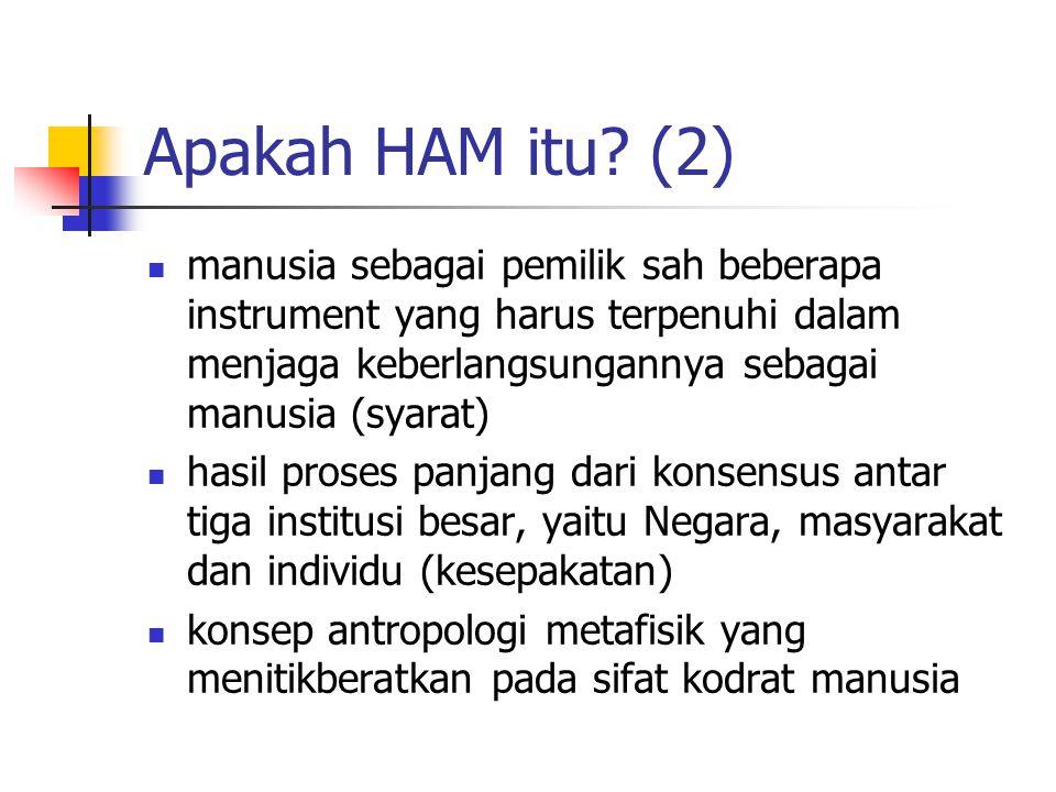 Apakah HAM itu? (2) manusia sebagai pemilik sah beberapa instrument yang harus terpenuhi dalam menjaga keberlangsungannya sebagai manusia (syarat) has