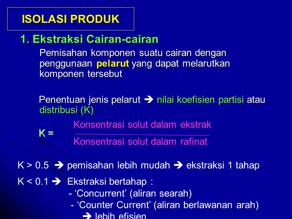 ISOLASI PRODUK 1.