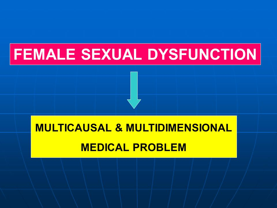 MULTICAUSAL & MULTIDIMENSIONAL MEDICAL PROBLEM FEMALE SEXUAL DYSFUNCTION