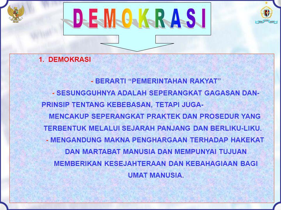 2.HAKEKAT DEMOKRASI a.