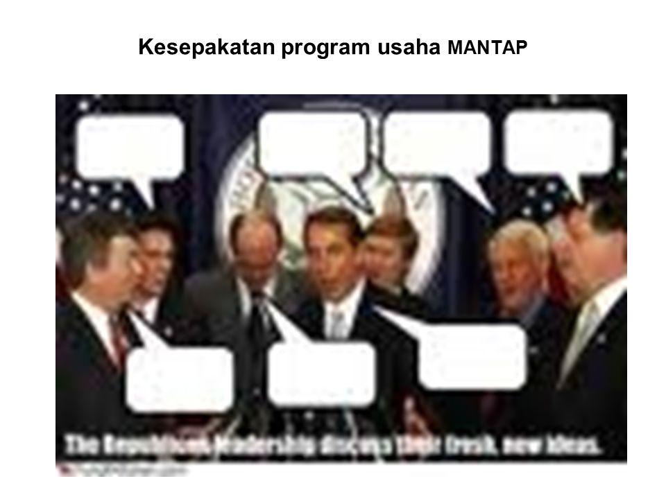 Kesepakatan program usaha MANTAP