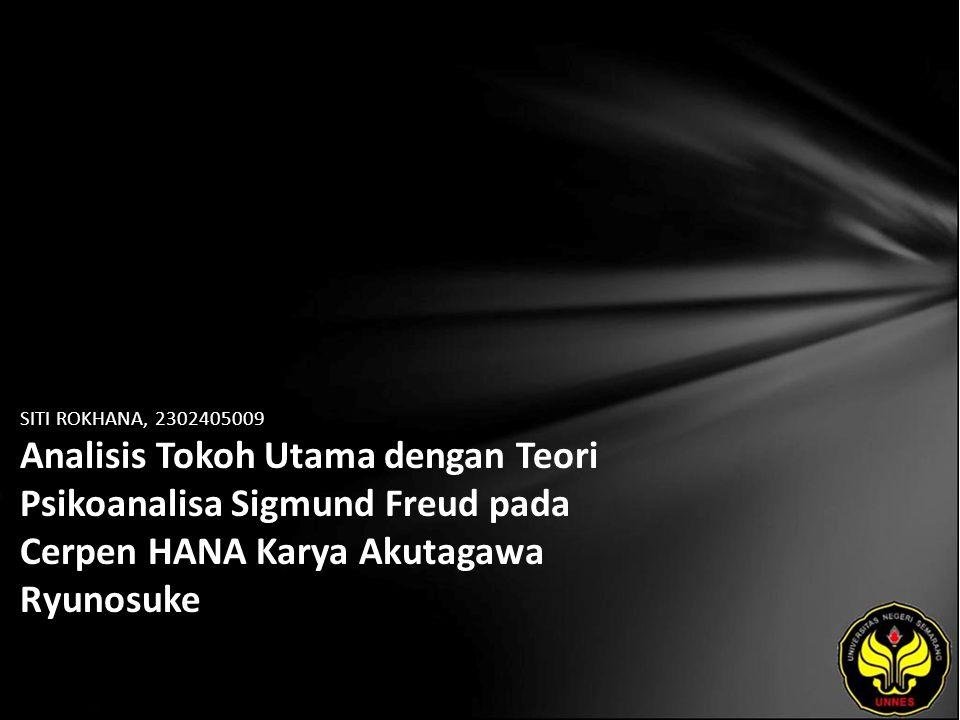 Identitas Mahasiswa - NAMA : SITI ROKHANA - NIM : 2302405009 - PRODI : Pendidikan Bahasa Jepang - JURUSAN : BAHASA & SASTRA ASING - FAKULTAS : Bahasa dan Seni - EMAIL : kaori_nihon pada domain yahoo.com - PEMBIMBING 1 : Dra.