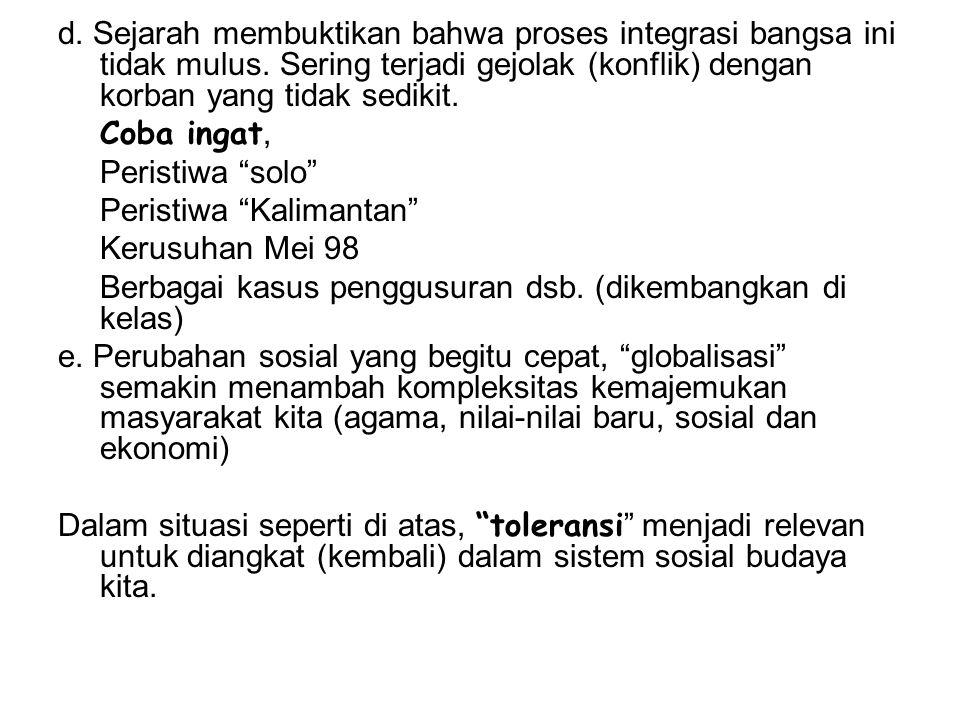 2.Apa Toleransi itu .