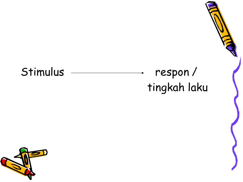 Stimulus respon / tingkah laku