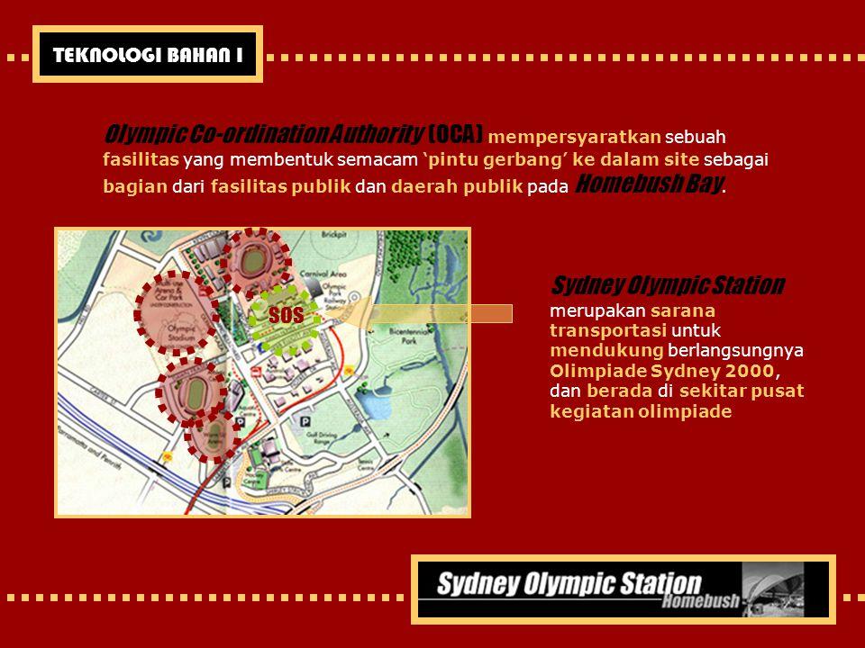 Olympic Co-ordination Authority (OCA) mempersyaratkan sebuah fasilitas yang membentuk semacam 'pintu gerbang' ke dalam site sebagai bagian dari fasili
