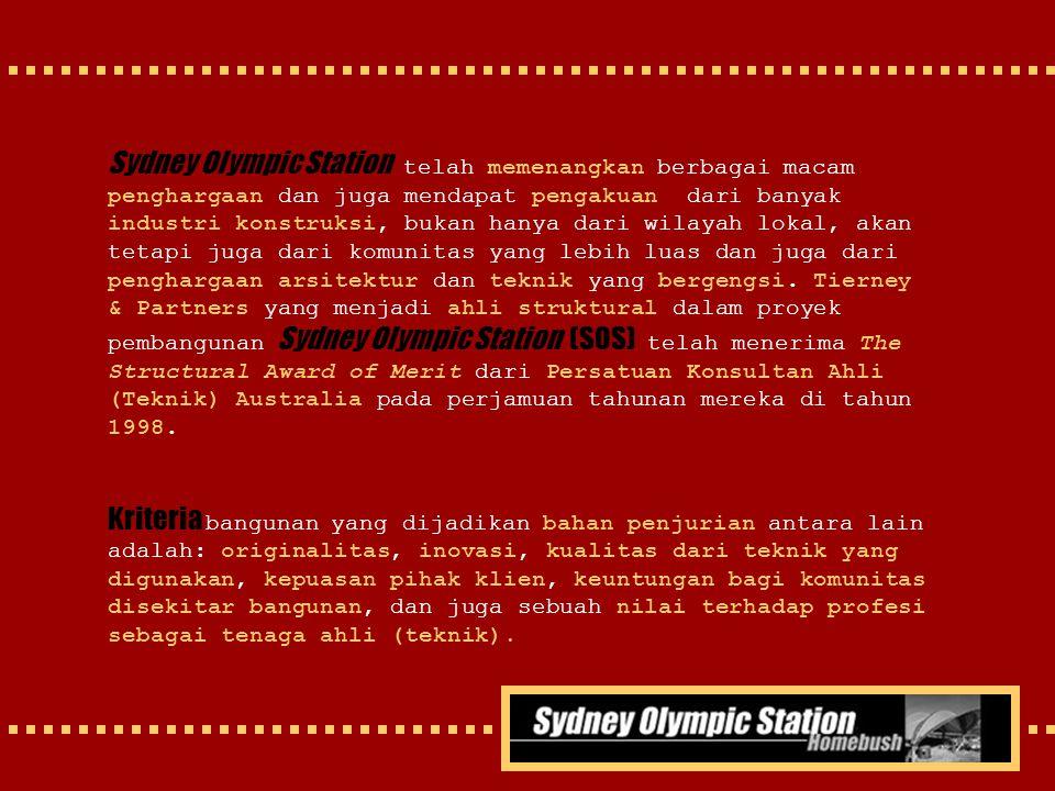 Sydney Olympic Station telah memenangkan berbagai macam penghargaan dan juga mendapat pengakuan dari banyak industri konstruksi, bukan hanya dari wila
