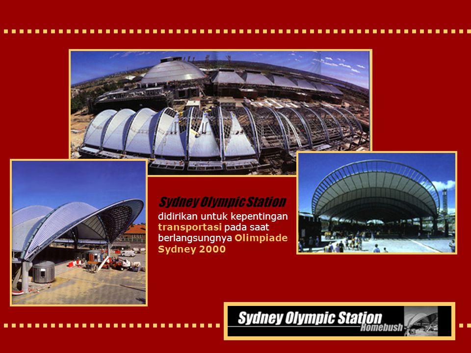 Sydney Olympic Station didirikan untuk kepentingan transportasi pada saat berlangsungnya Olimpiade Sydney 2000