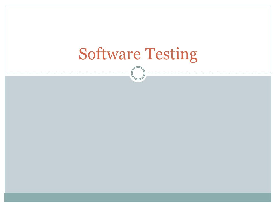 Black-Box Testing requirements events input output